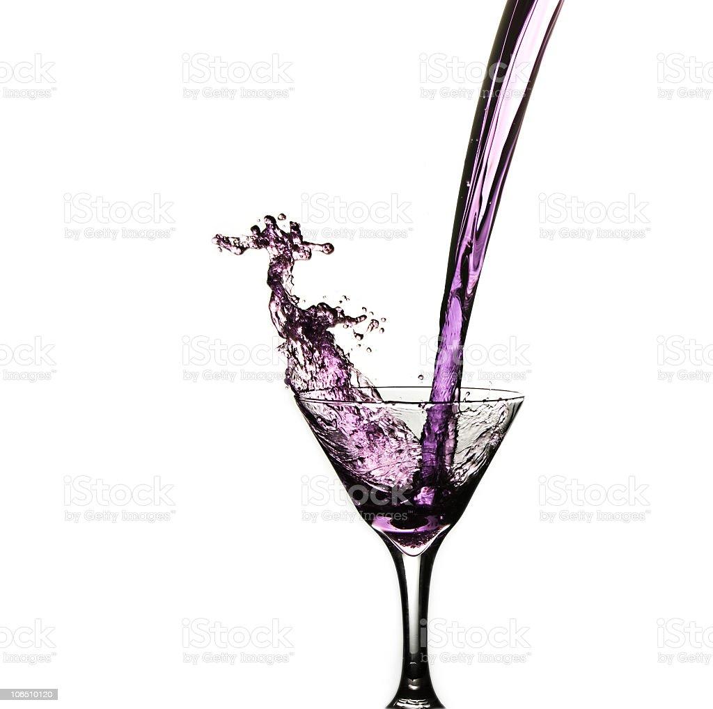 Purple Martini Pour stock photo