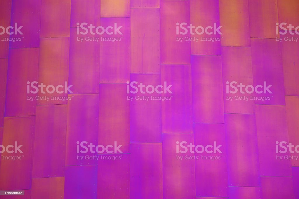 Purple Metal Building Exterior stock photo