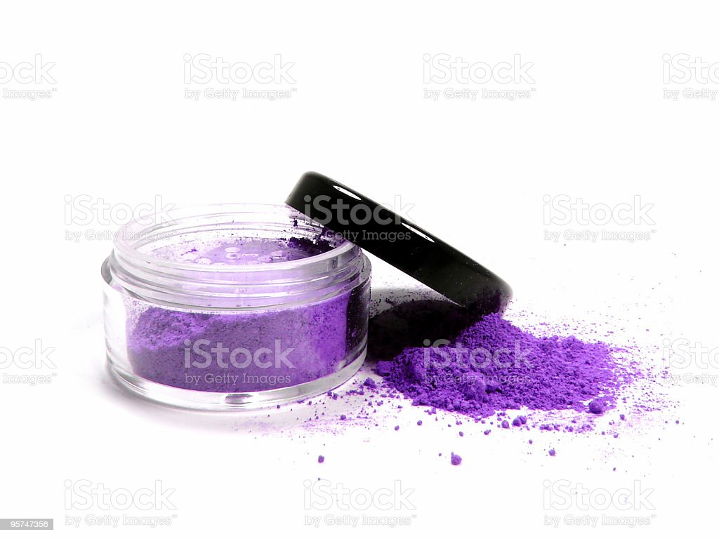 Purple mineral make up royalty-free stock photo