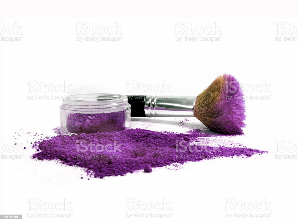 Purple Mineral Make-up royalty-free stock photo