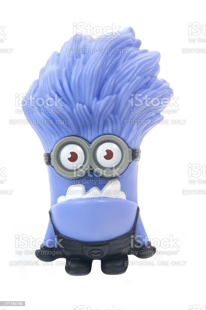 Purple Minion Figurine stock photo