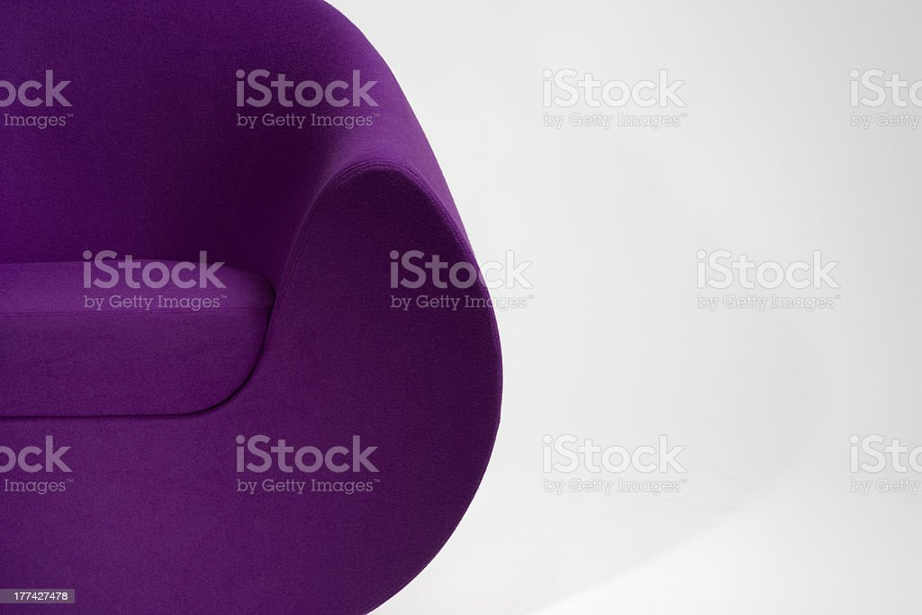 Purple Modern Chair royalty-free stock photo