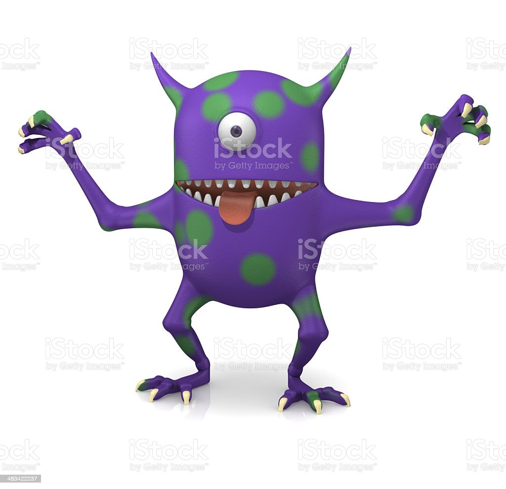Purple Monster royalty-free stock photo