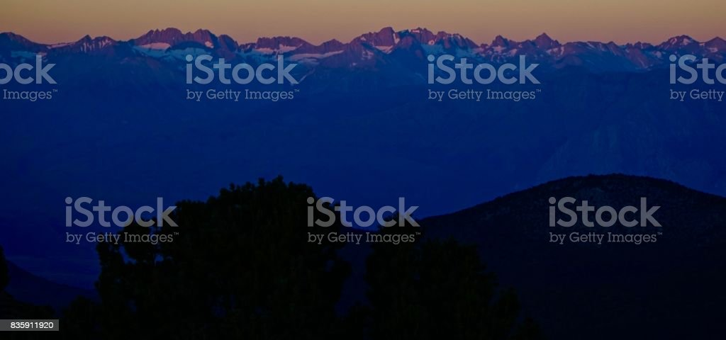 Purple Mountains Majesty stock photo