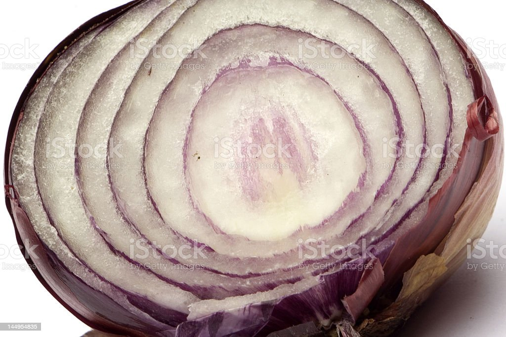 Purple onion isolated on white royalty-free stock photo