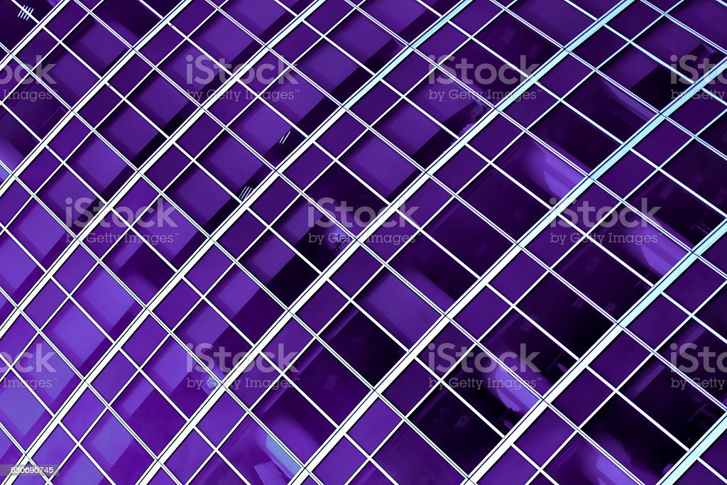 Purple panes of modern office stock photo