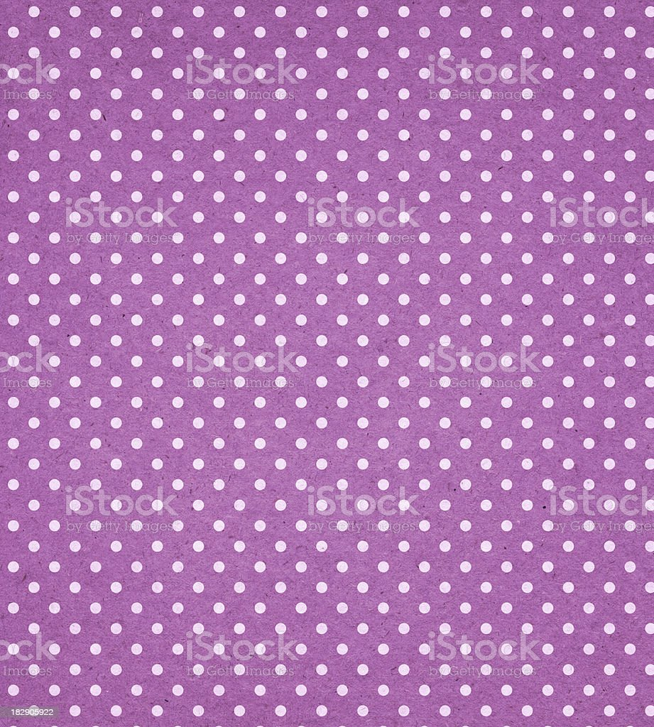 purple paper with white dots royalty-free stock photo