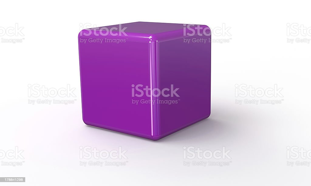 Purple Pink 3d cube royalty-free stock photo