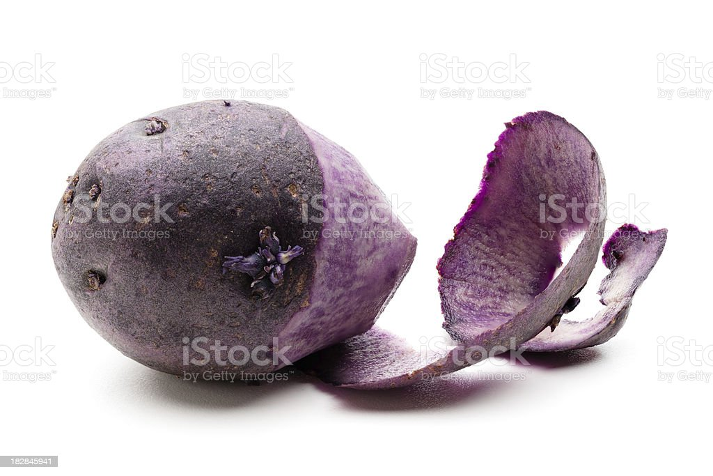 Purple potato stock photo
