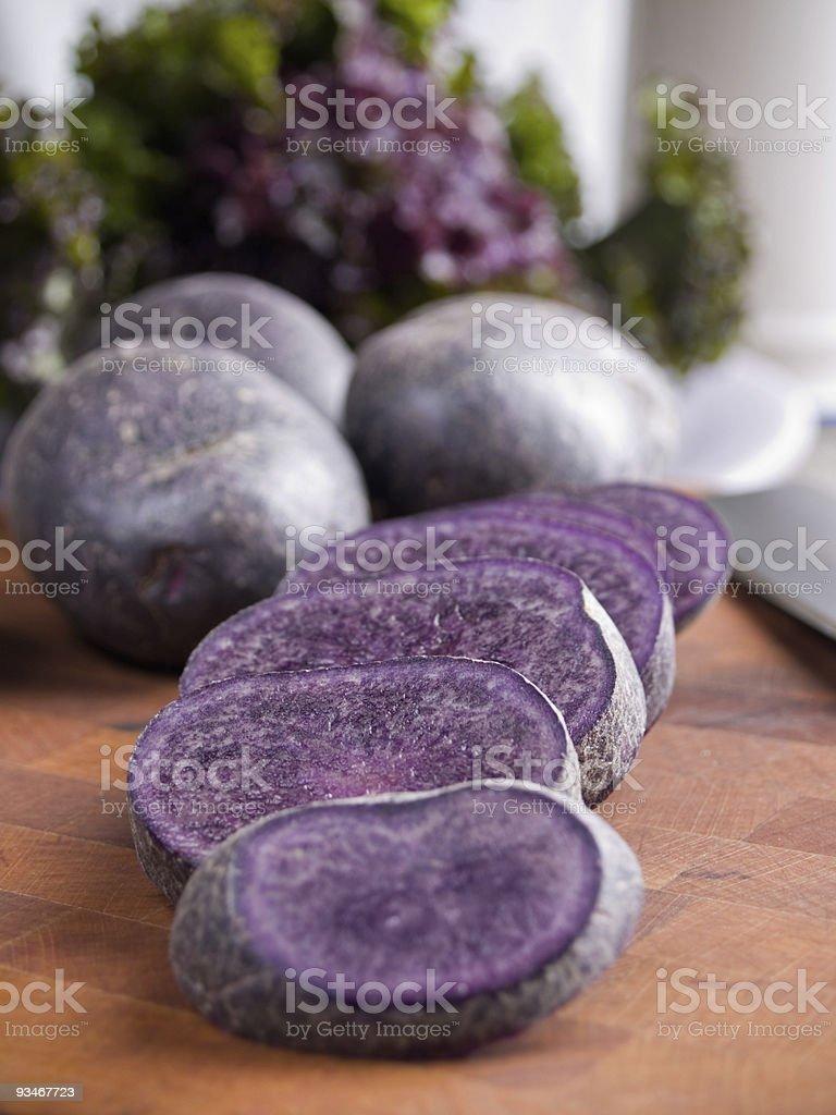 Purple potatoes royalty-free stock photo