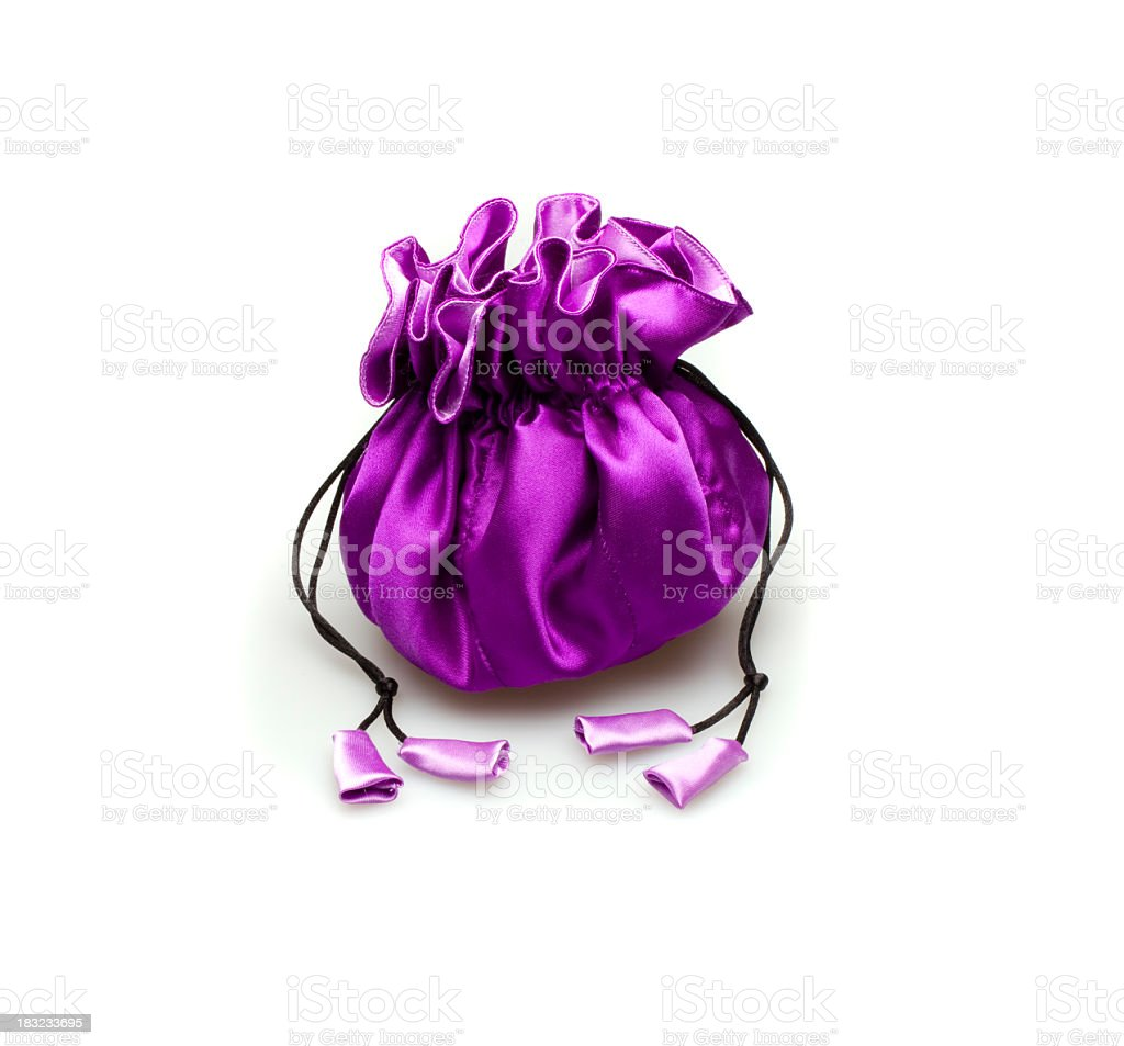 Purple Pouch royalty-free stock photo