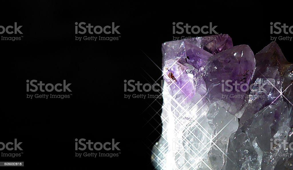 Purple precious mineral stone stock photo