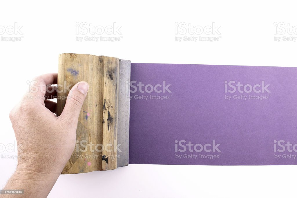 Purple printmaking stock photo