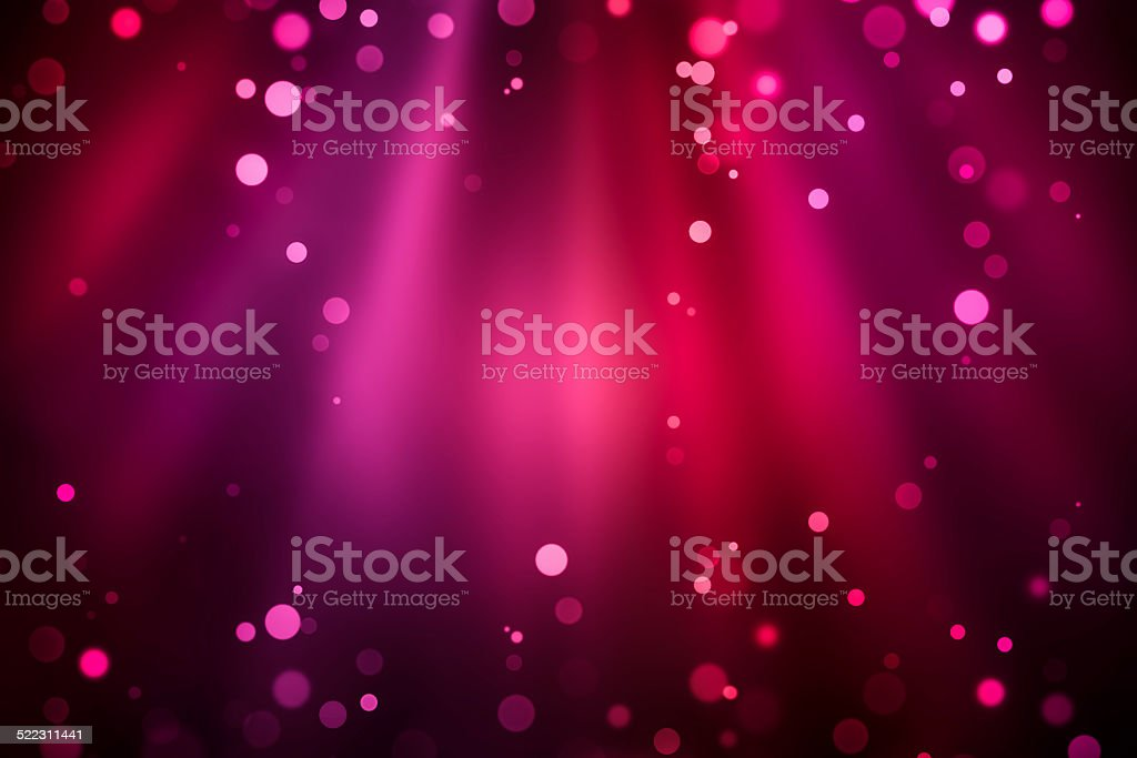 Purple red rays of light with bubbles and glitters vector art illustration