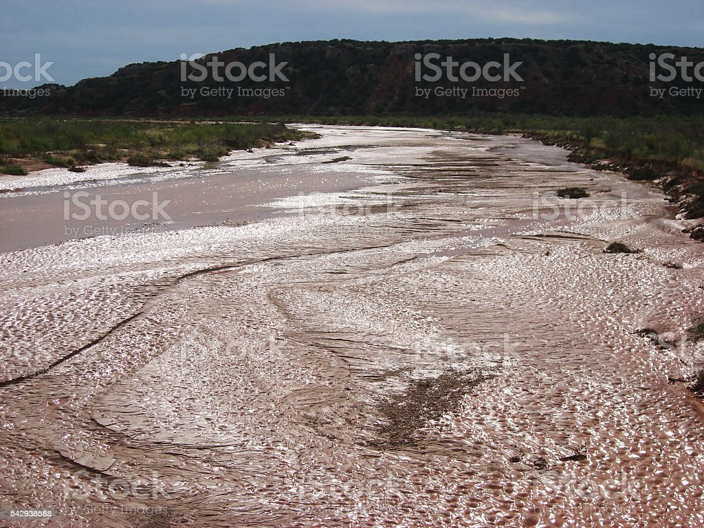Purple Red River in Texas stock photo