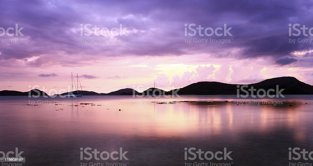 Purple reflections stock photo