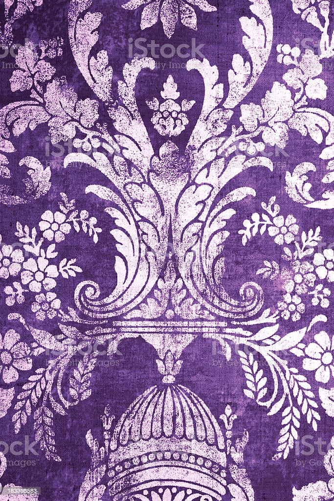 Purple Retro Pattern royalty-free stock photo