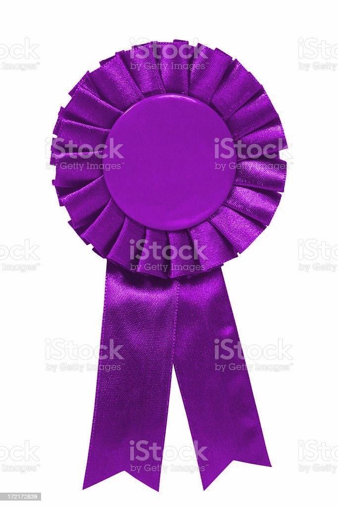 Purple ribbon royalty-free stock photo