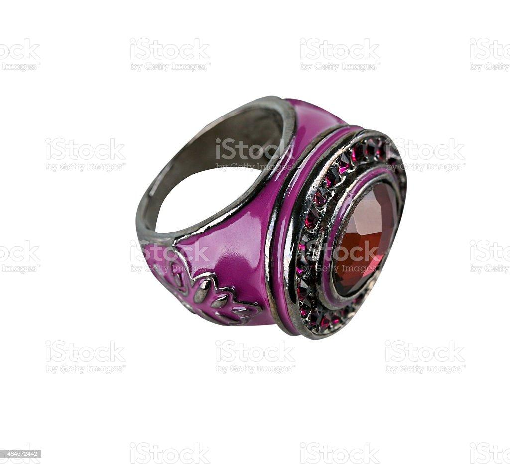 Purple ring stock photo
