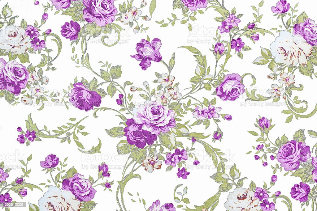 purple rose on white fabric background, Fragment of colorful ret stock photo
