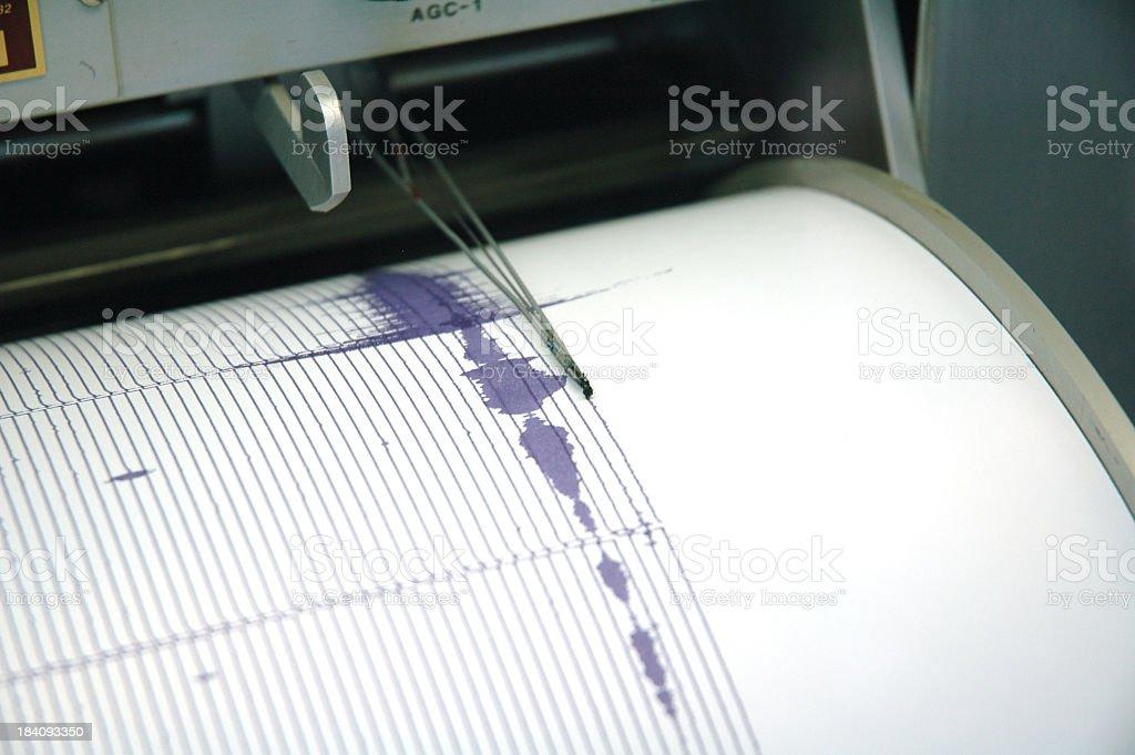 Purple Seismograph stock photo