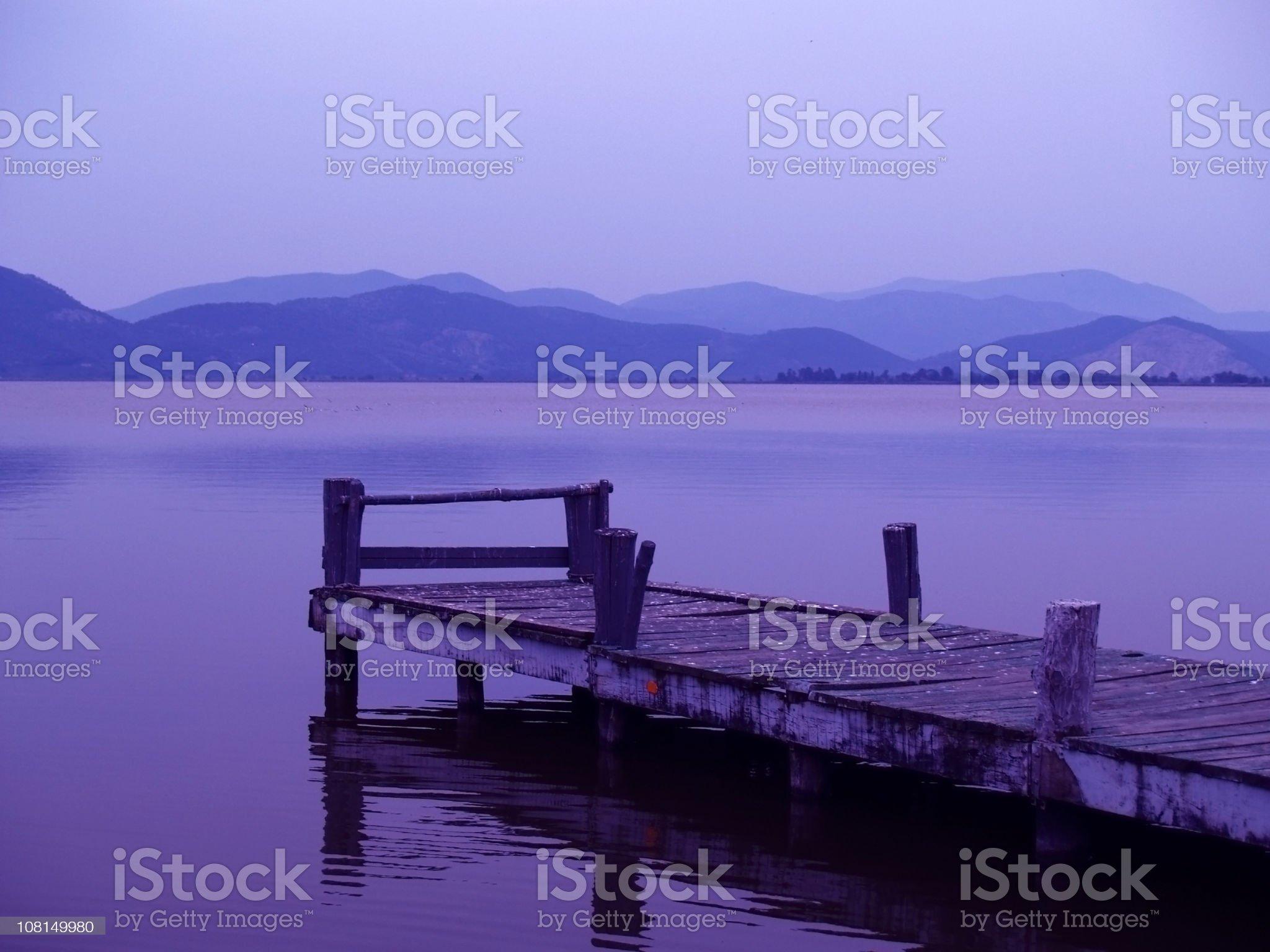 Purple Serenity. royalty-free stock photo