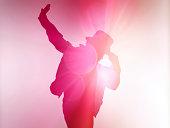 Purple Silhouette Dancer