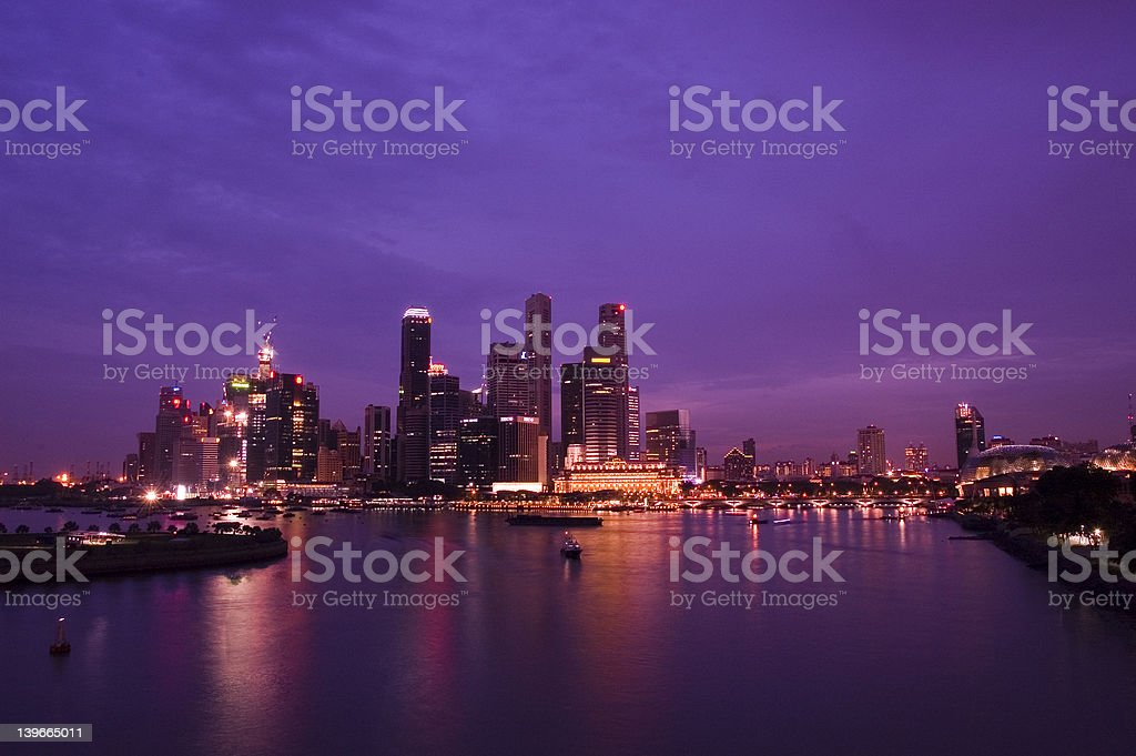 Purple Skies royalty-free stock photo