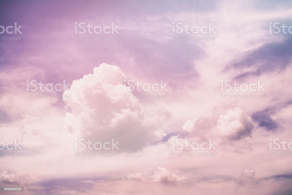 Purple sky clouds stock photo