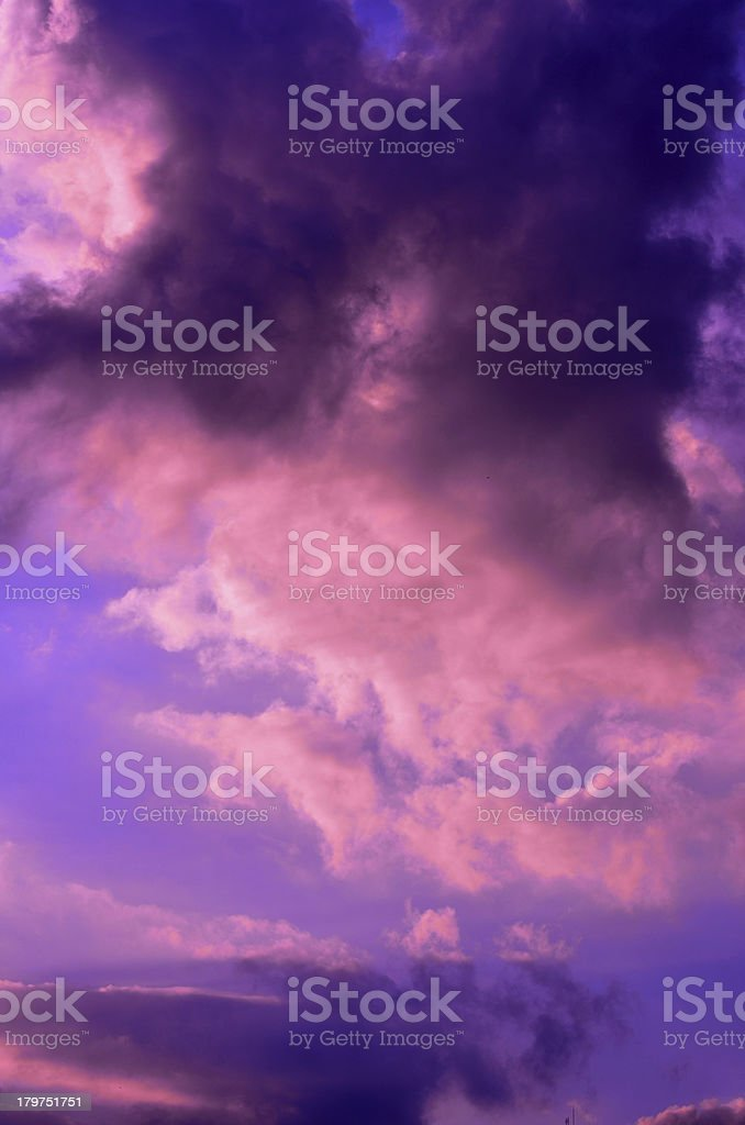 Purple sky royalty-free stock photo