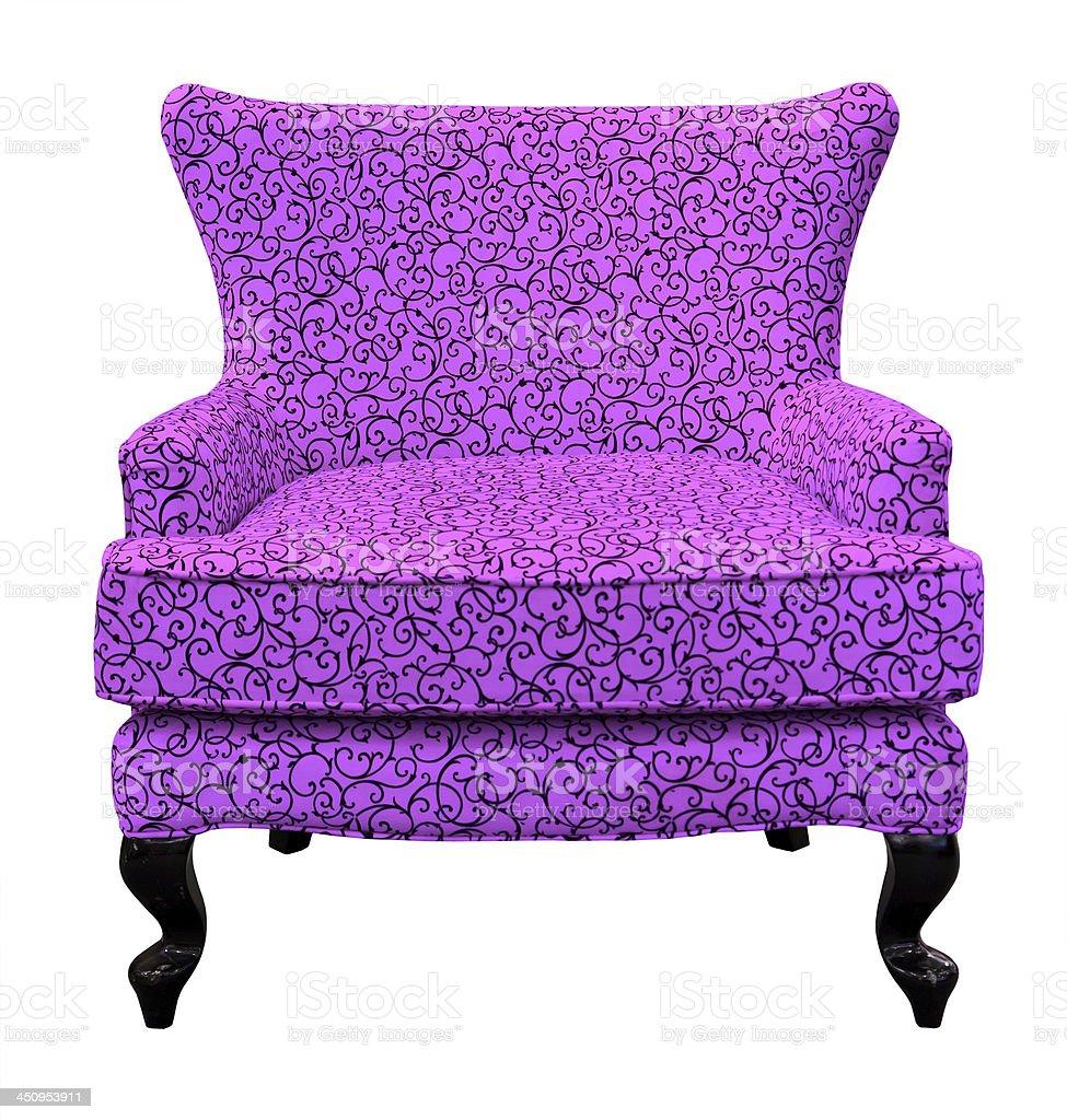 Viola divano isolato foto stock royalty-free