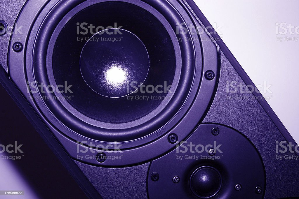 Purple Speaker stock photo