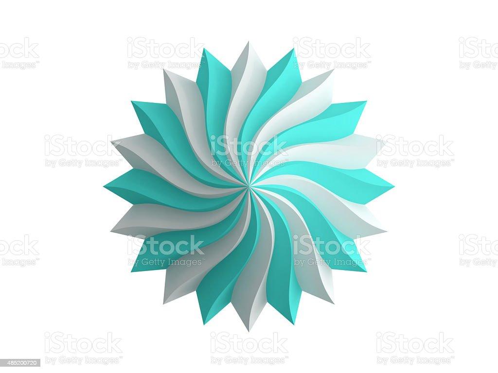 purple spiral logo stock photo