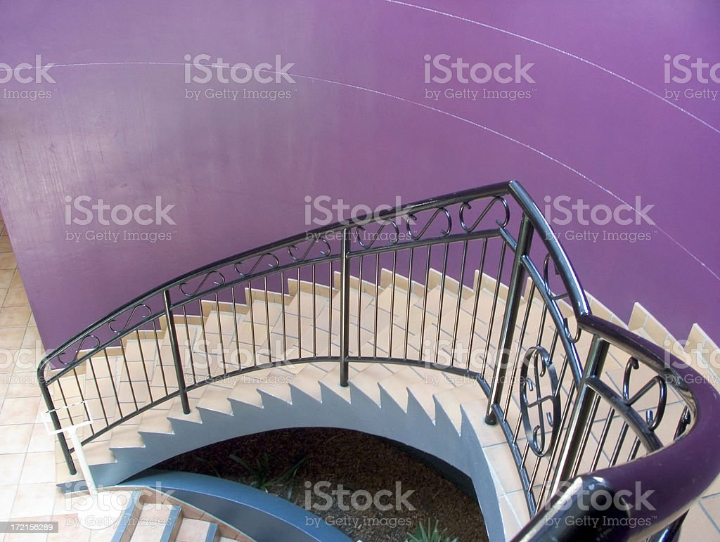 purple stairwell royalty-free stock photo