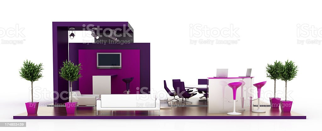 Purple Stand royalty-free stock photo