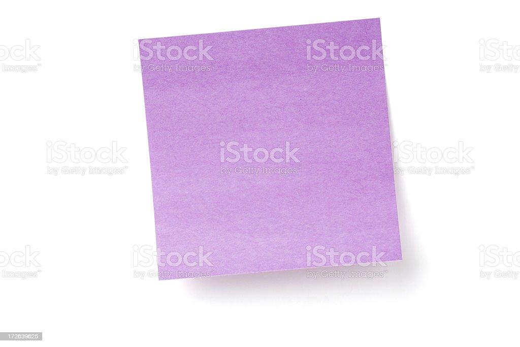 Purple Sticky Note royalty-free stock photo