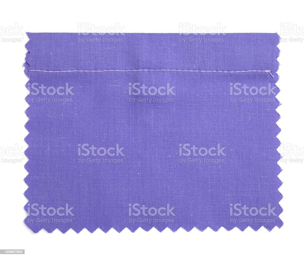 Purple Stitched Fabric Swatch royalty-free stock photo