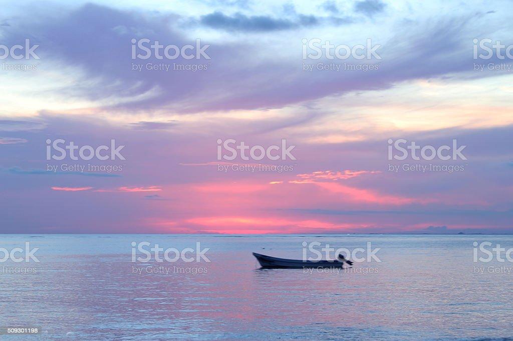 Purple sunset stock photo