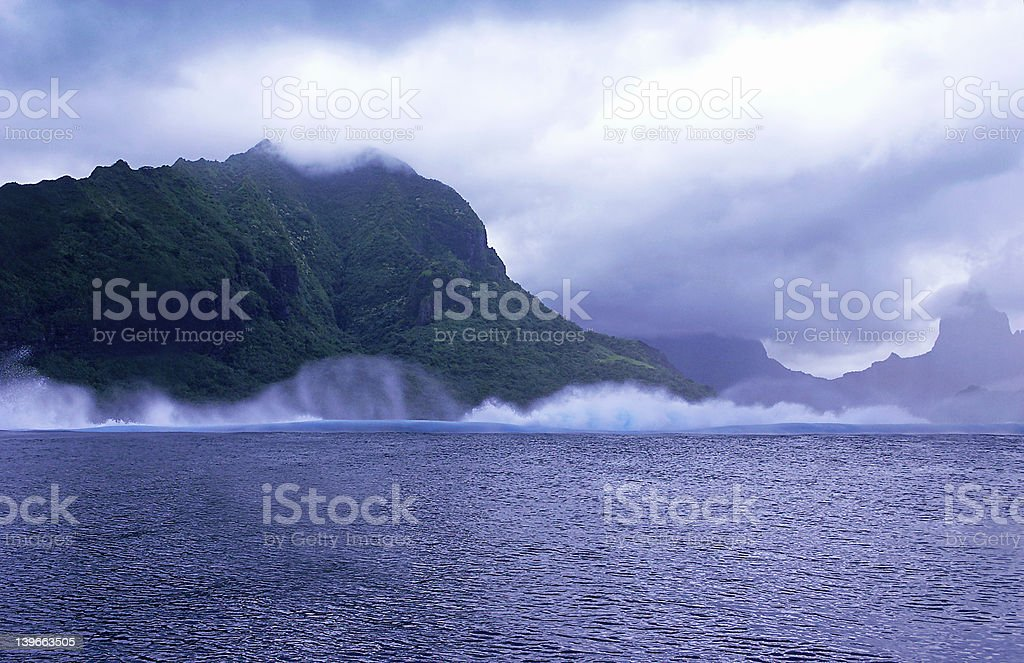 Purple Surf royalty-free stock photo