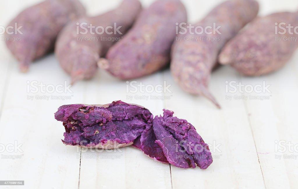 Purple Sweet Potato. stock photo