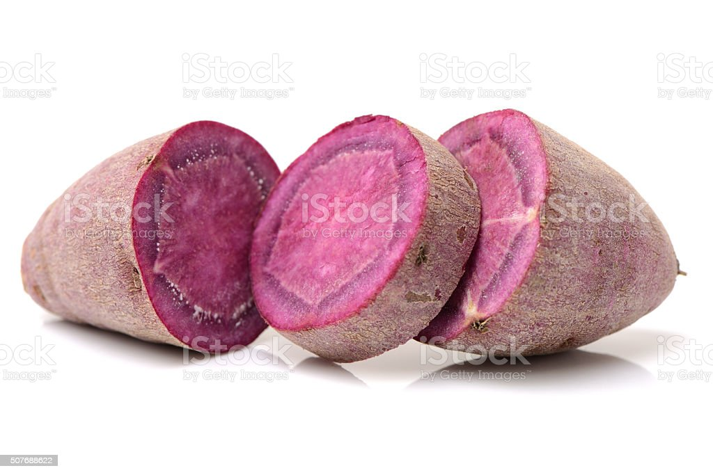 Purple sweet potato stock photo