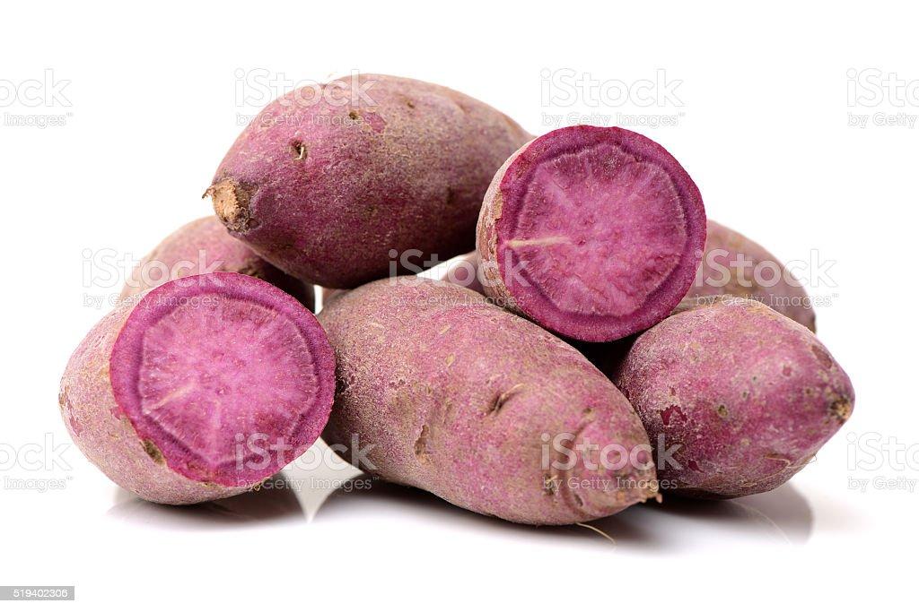 Purple sweet potato stock photo