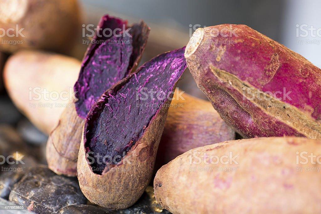 Purple Sweet Potatoes of Okinawa stock photo