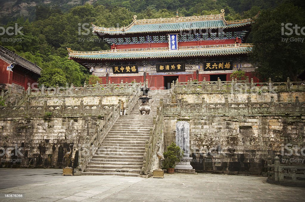 Purple Temple in Wudangshan royalty-free stock photo