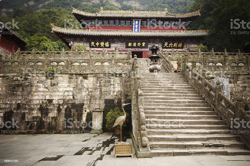 Purple Temple in Wudangshan stock photo