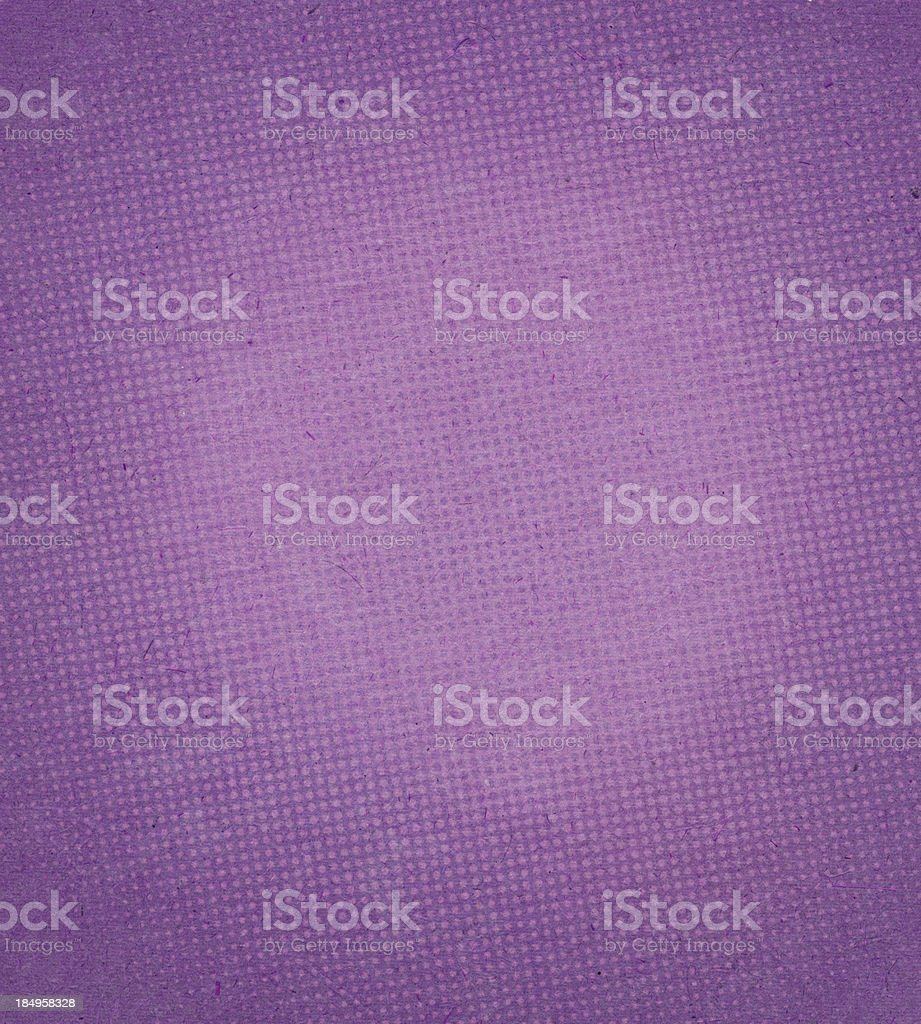 High resolution purple textured paper with halftone vector art illustration