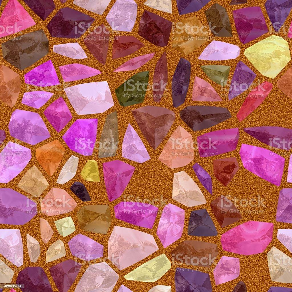 Purple tiles seamless mosaic stock photo