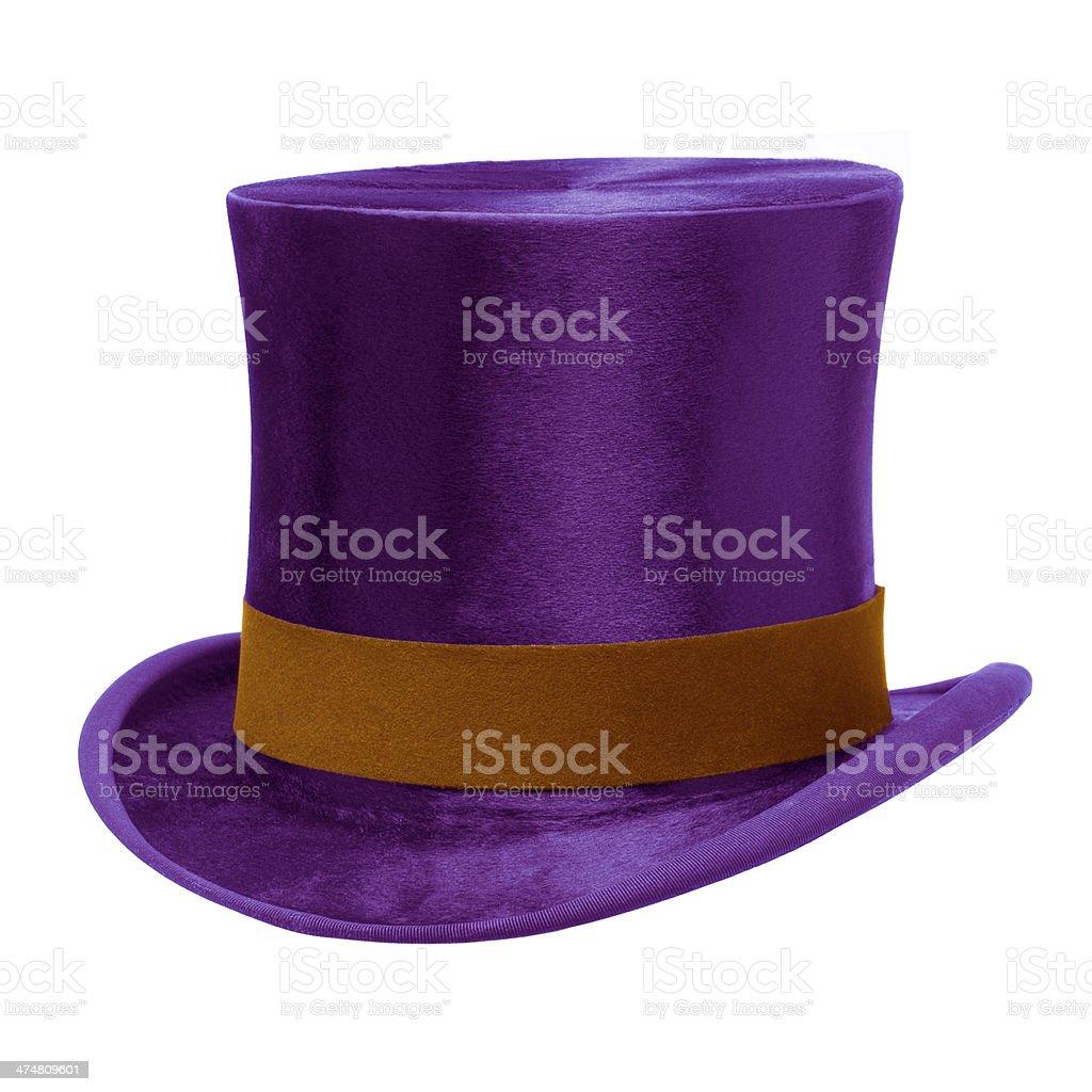 Purple Top Hat stock photo