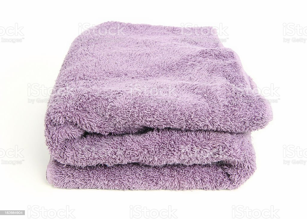 Purple Towel #1 royalty-free stock photo