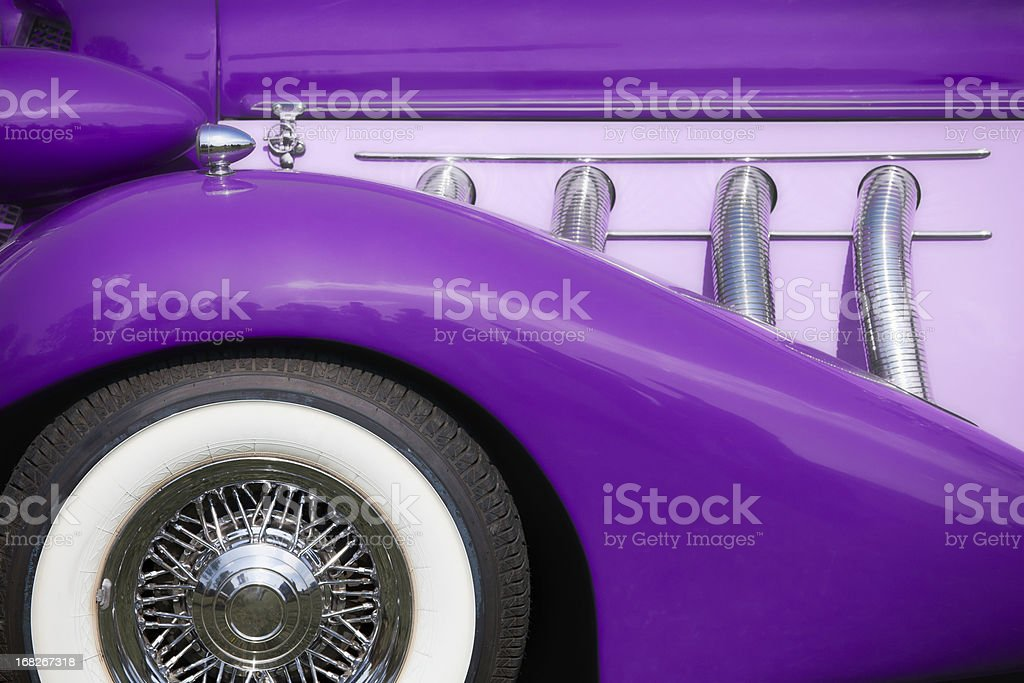 Purple vintage automobile royalty-free stock photo
